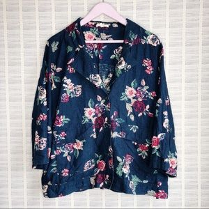 Maurices Navy Floral Light Blazer